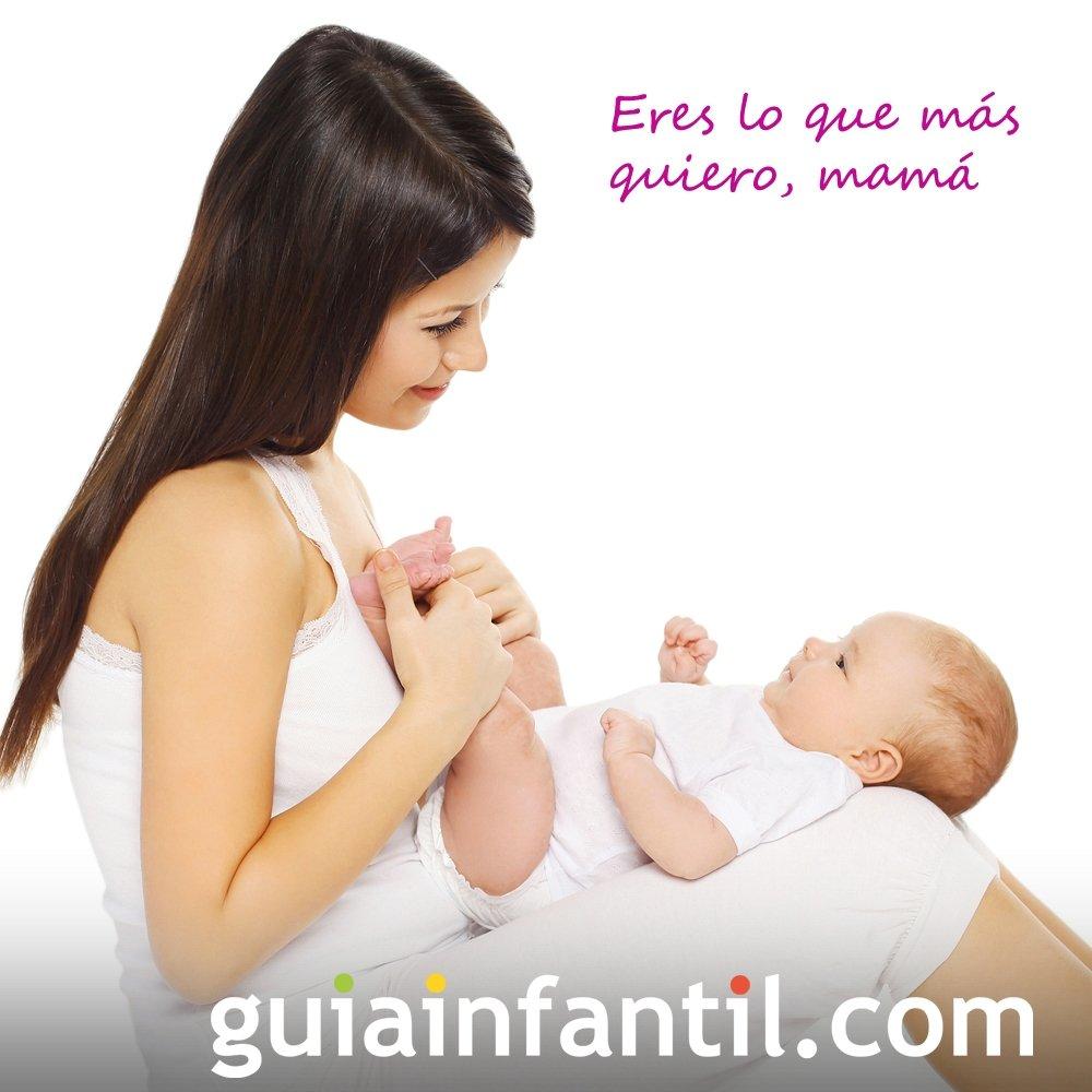 Bebé con su mamá. Postales para el Día de la Madre