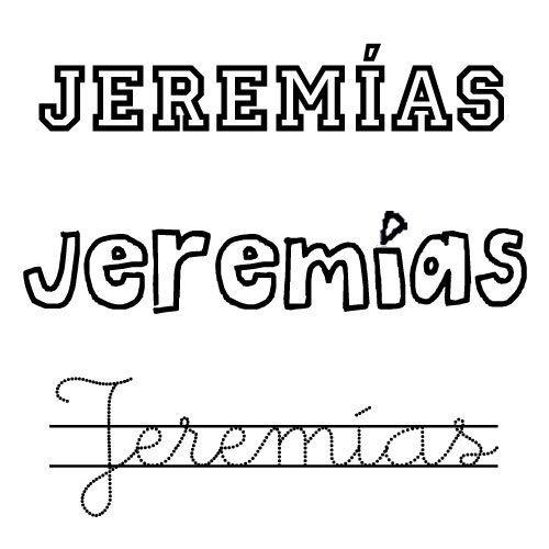 Dibujo del nombre Jeremías para colorear