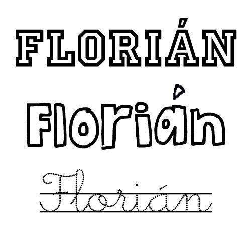 Dibujo del nombre Florián para colorear
