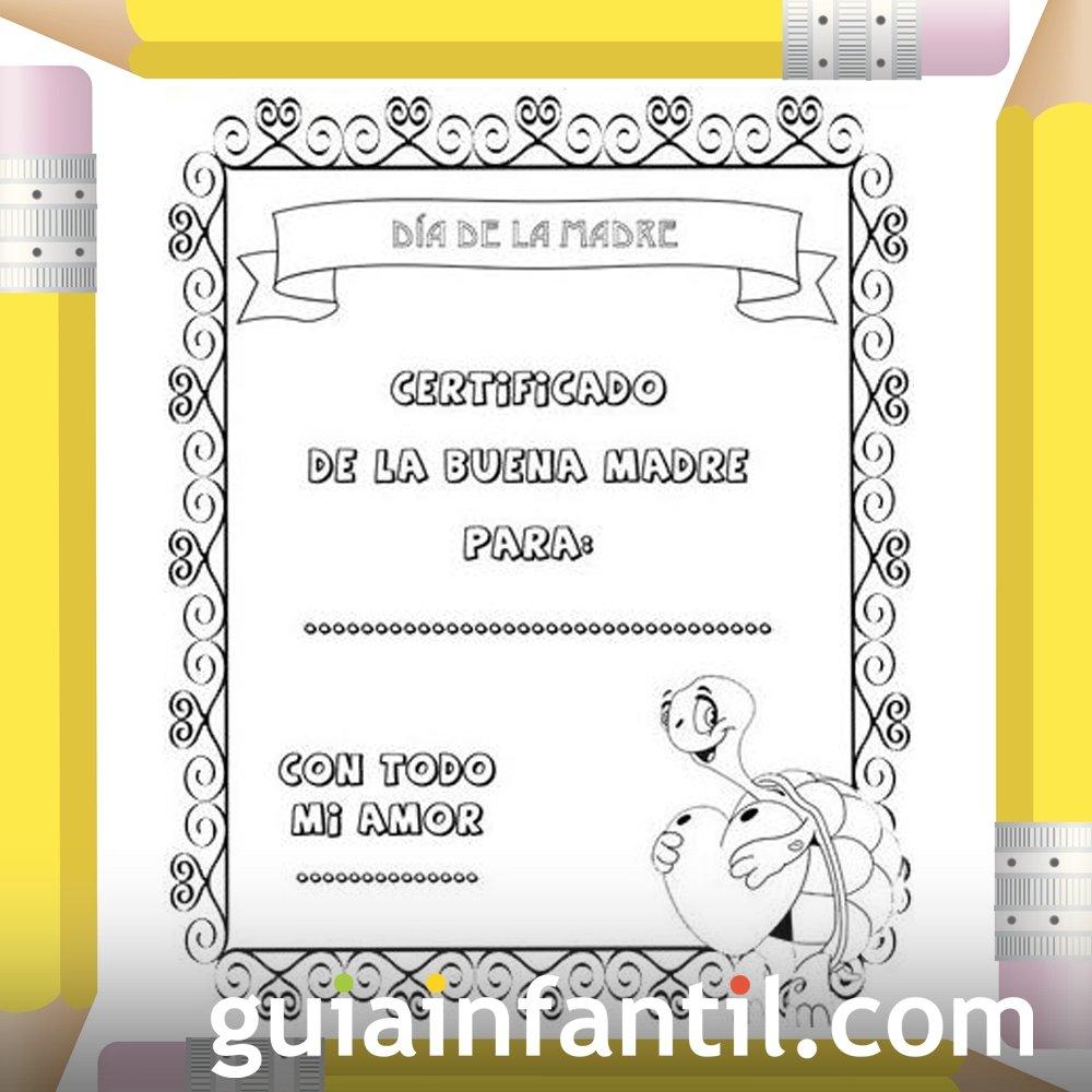 Diploma Día De La Madre Dibujos Para Colorear
