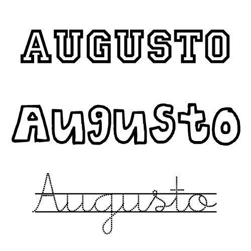 Dibujo del nombre Augusto para colorear