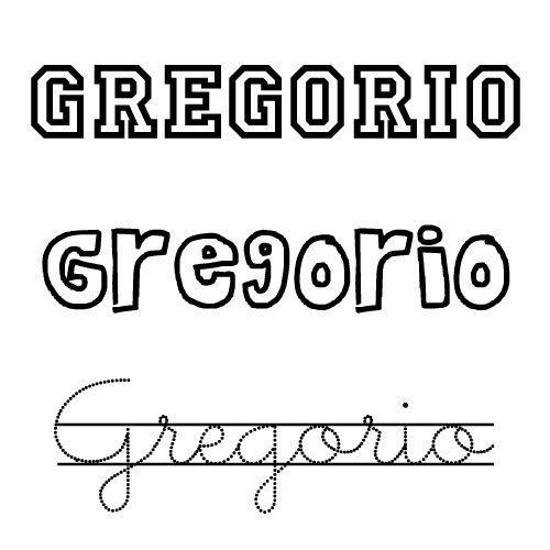 Dibujo del nombre Gregorio para colorear e imprimir