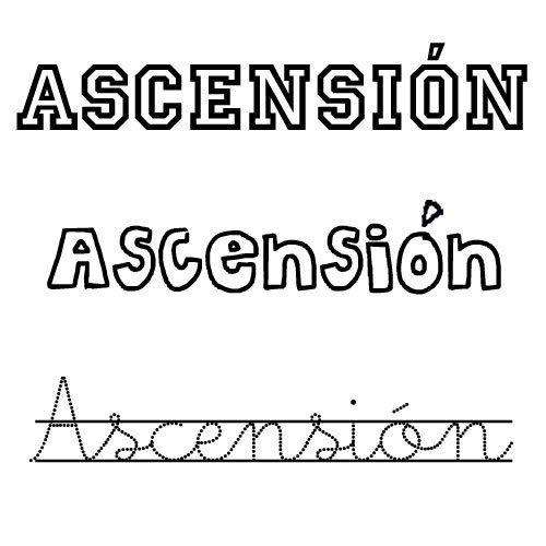 Dibujo del nombre Ascensión para pintar e imprimir