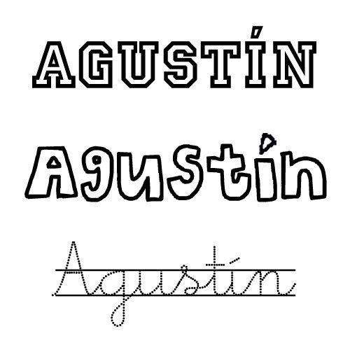 Dibujo para imprimir del nombre Agustín