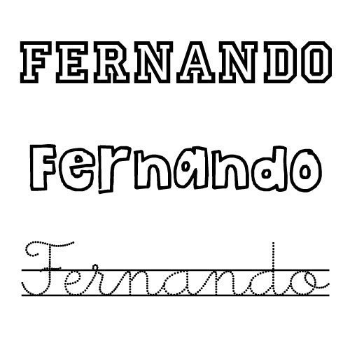 Dibujos del nombre Fernando para pintar