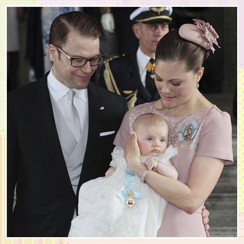 El bautizo de la hija de Victoria de Suecia