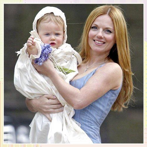 Bautizo de la hija de Geri Halliwell, ex Spice Girl