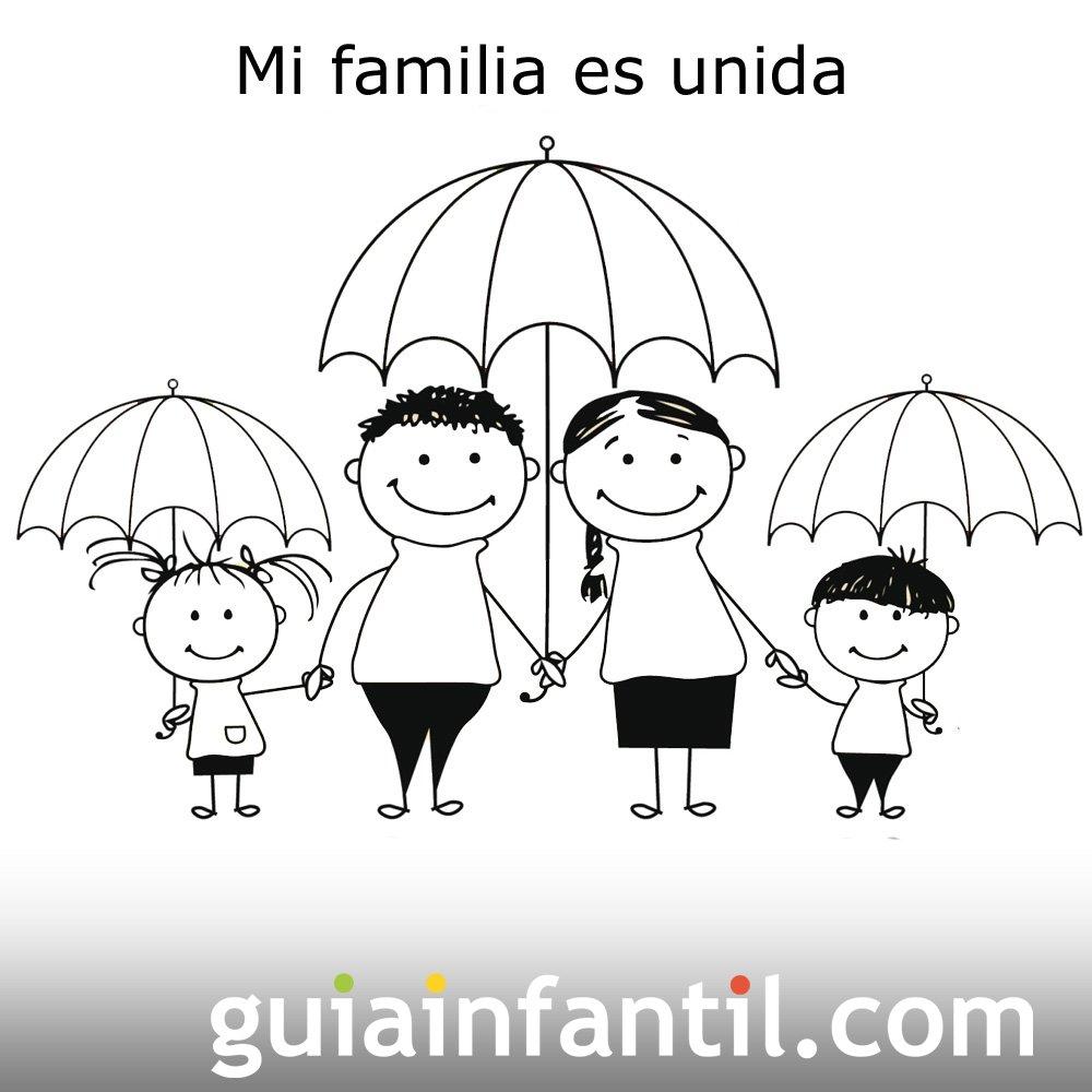 Postales Para El Día De La Familia Felicitación Infantil De Amor
