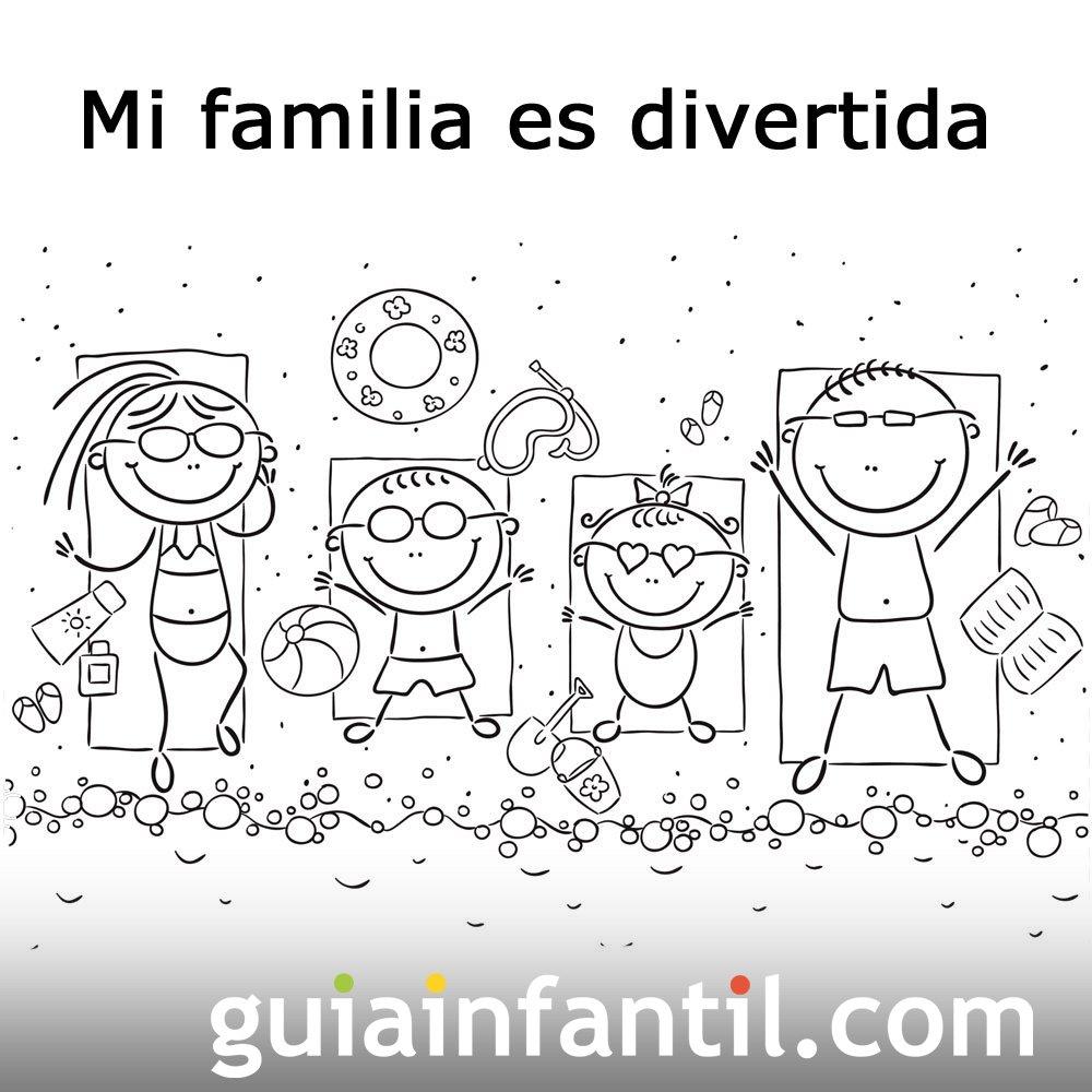 Postales para el Día de la Familia. Padres con sus hijos
