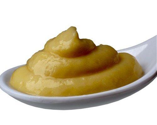 Papilla de plátano y naranja con galletas