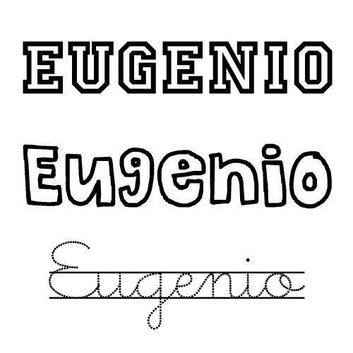 Imagen del nombre Eugenio para imprimir