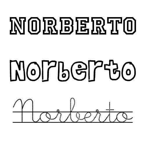 Imagen del nombre Norberto para imprimir