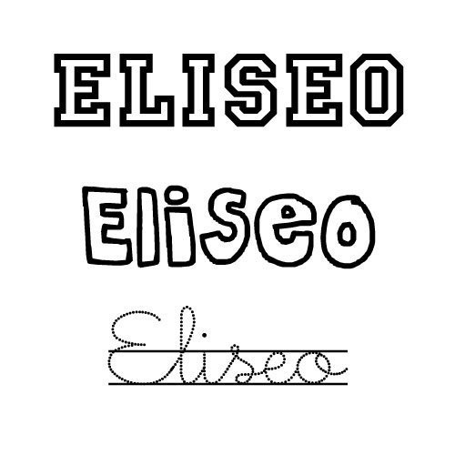 Dibujo del nombre para niños Eliseo para imprimir