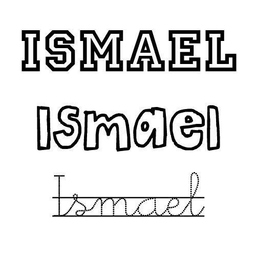 Imagen del nombre Ismael para imprimir y colorear