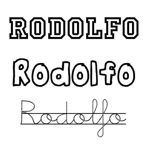 Dibujo del nombre Rodolfo para pintar