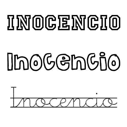 Dibujo del nombre Inocencio para colorear