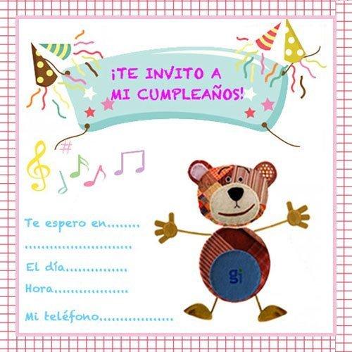 Tarjetas De Invitación De Cumpleaños Infantiles Con El Oso