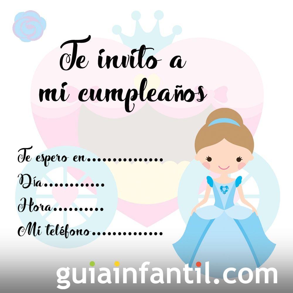 Invitación Para Fiestas De Cumpleaños Con Imágenes De Princesas