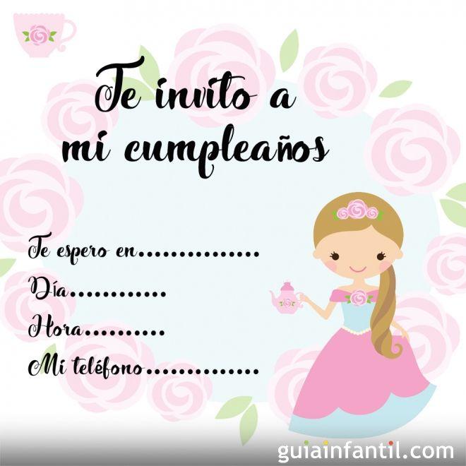 Invitaciones Para Fiestas De Cumpleaños Con Princesas Para