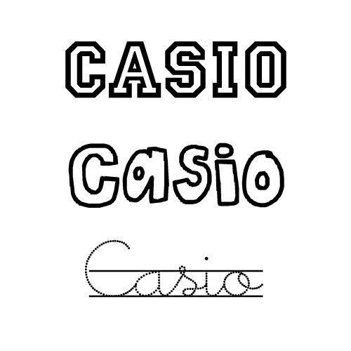 Dibujo del nombre Casio para pintar e imprimir