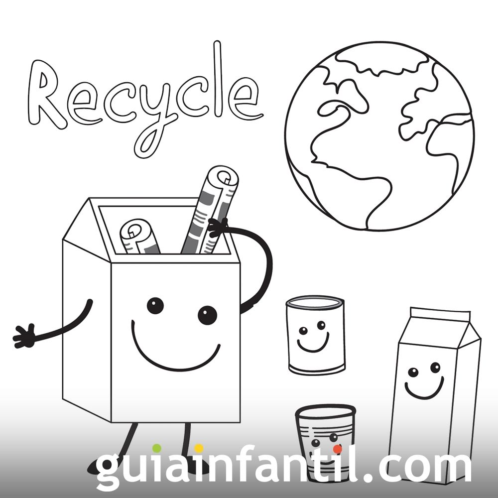 Dibujos Para Niños Sobre El Reciclaje Y La Ecología