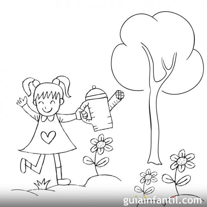 Dibujos para niños sobre la importancia de plantar un árbol