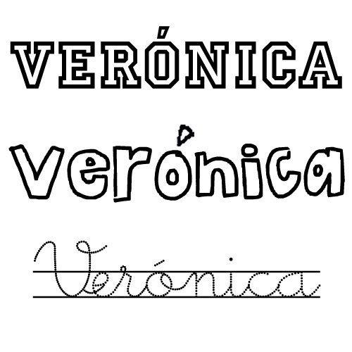 Dibujo del nombre Verónica para pintar