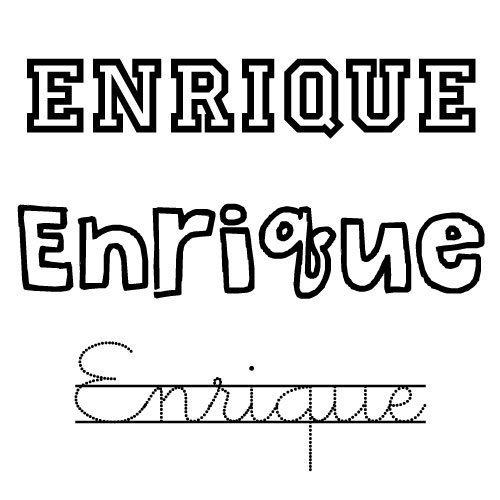 Dibujo para colorear del nombre Enrique