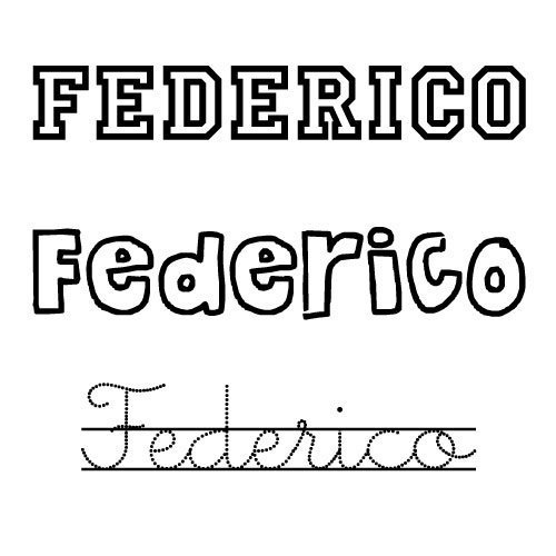 Dibujo del nombre Federico para colorear
