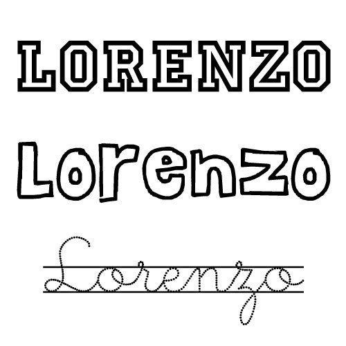 Dibujo del nombre Lorenzo para colorear