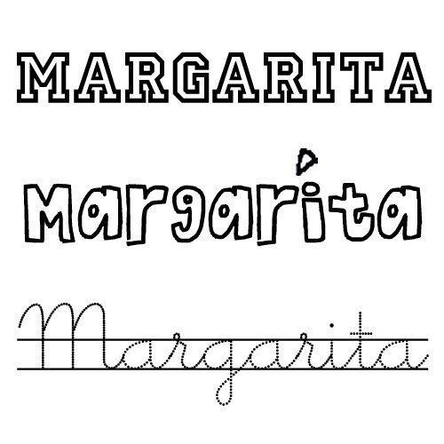 Dibujo del nombre para niñas Margarita