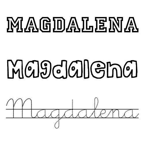 Dibujo del nombre Magdalena para pintar