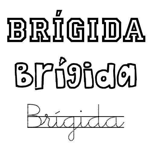 Dibujo para pintar del nombre Brígida