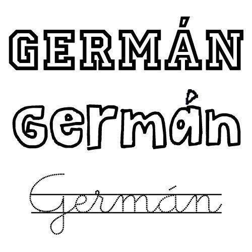 Dibujo del nombre Germán para imprimir y colorear