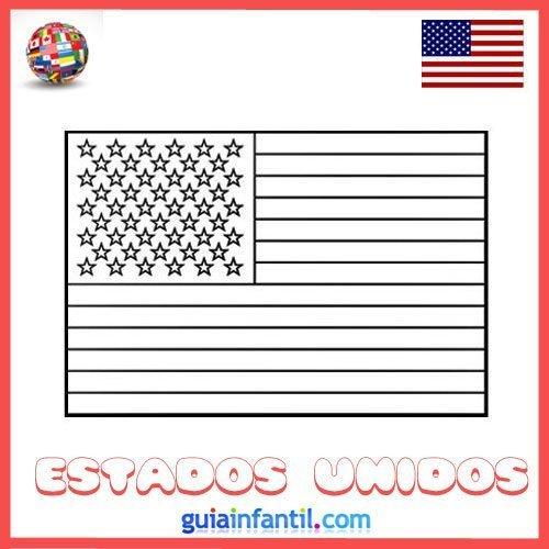 Dibujo de la bandera de Estados Unidos para colorear  Dibujos de