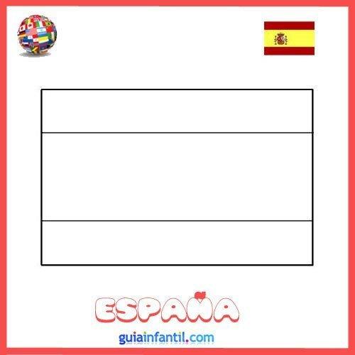 Dibujo de la bandera de Espaa para imprimir  Dibujos de banderas
