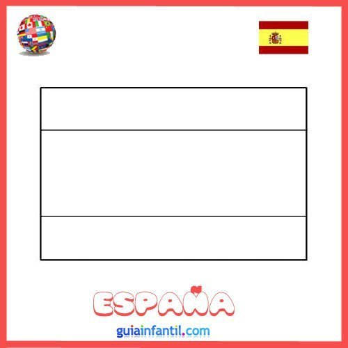 Dibujo de la bandera de España para imprimir