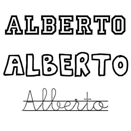 Dibujo para colorear del nombre Alberto