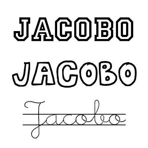 Dibujo del nombre Jacobo para pintar e imprimir