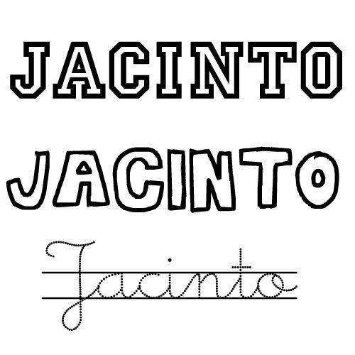 Dibujos del nombre Jacinto para colorear