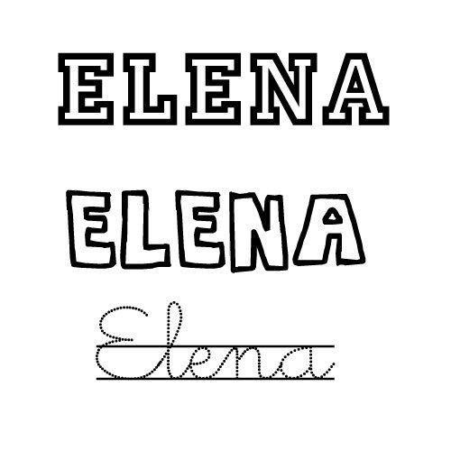 Dibujo del nombre para niñas Elena