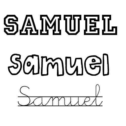 Dibujo del nombre Samuel para colorear e imprimir