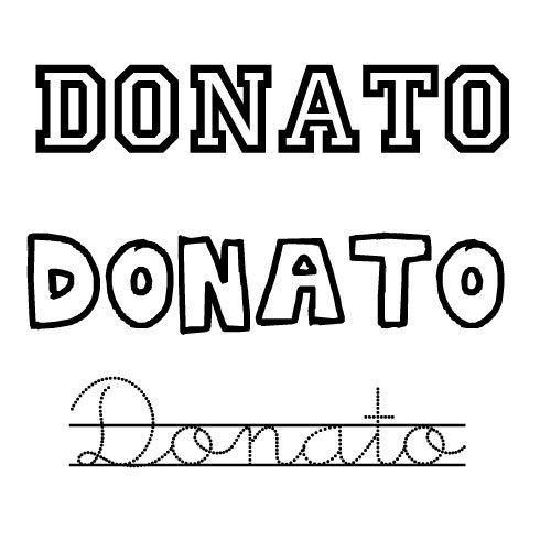 Dibujo del nombre Donato para imprimir y pintar