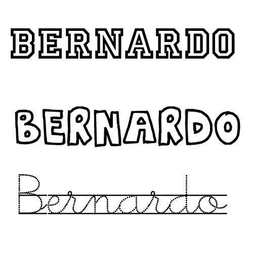 Dibujo del nombre Bernardo para imprimir y colorear