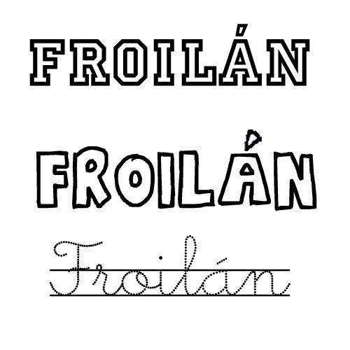Dibujo del nombre Froilán para pintar