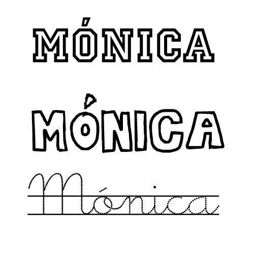 Dibujo del nombre para niñas Mónica