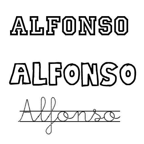 Dibujo del nombre para niños Alfonso