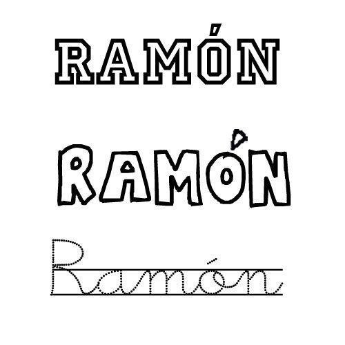 Dibujo del nombre Ramón para colorear