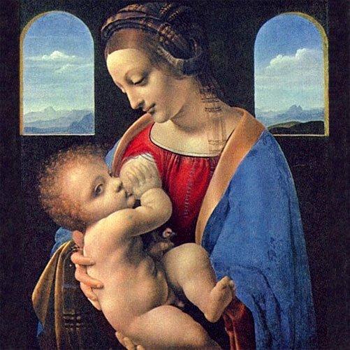 'Virgen de la Leche', da Vinci. El arte de amamantar