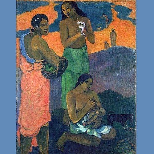 'Mujeres a la orilla del mar', Gauguin. El arte de amamantar